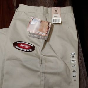 LEE WOMEN'S PERFORMANCE KHAKIS STONE SEAMED LEG 16